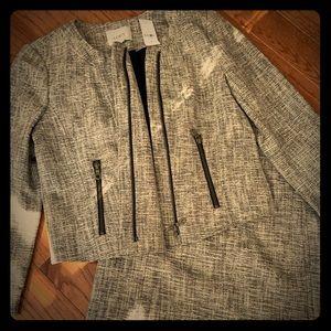 NWT Ann Taylor Loft Light Tweed Suit Jacket Size 6